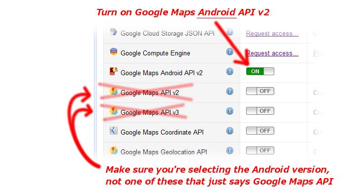 Google Maps Android Api V2 Setup Baron Digital Content Manager